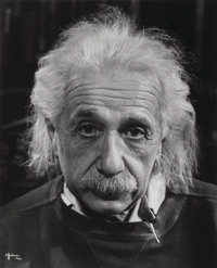 Philippe Halsman (American, 1906-1979) Professor Albert Einstein in his Study at Princeton, 1947 Gel