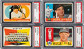 Baseball Cards:Lots, 1960 Topps Baseball PSA Graded Collection (10)....
