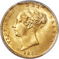 Great Britain, Great Britain: Victoria gold 1/2 Sovereign 1850 MS65 PCGS,...