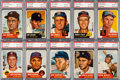 Baseball Cards:Lots, 1953 Topps Baseball PSA NM-MT 8 Collection (21). ...