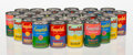 Collectible, After Andy Warhol (American, 1928-1987). One Hundred Thirty-Four Andy Warhol Fiftieth Anniversary Tomato Soup Cans, 2012... (Total: 134 Items)