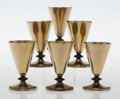 Furniture , Albert F. Saunders (American, 1877-1964). Six Cocktail Cups, circa 1928, Benedict Manufacturing Co.. Electroplated nicke... (Total: 6 Items)