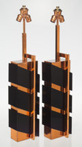 Furniture, Edith Norton (American). Pair of Table Lamps, mid 20th century. Copper, lacquered wood. 33-3/4 x 6-7/8 x 4 inches (85.7 ... (Total: 2 Items)