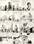 Original Comic Art:Panel Pages, Jean Giraud Blueberry Tome « La piste des Sioux » Planche 6(Dargaud, 1971)....