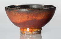 Glen Lukens (American, 1887-1967) Bowl, circa 1940 Glazed ceramic 4-1/4 x 8-1/4 x 8-1/4 inches (1