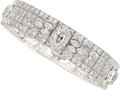 Estate Jewelry:Bracelets, Art Deco Diamond, Platinum Bracelet . ...