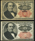 Fractional Currency:Fifth Issue, Fr. 1308 25¢ Fifth Issue Fine;. Fr. 1309 25¢ Fifth Issue VF-XF..... (Total: 2 notes)