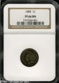 Proof Indian Cents: , 1884 1C PR66 Brown NGC....