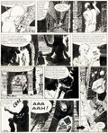 Original Comic Art:Panel Pages, Mitacq Jacques Le Gall « La Déesse noire » Planche 17 (Pilote, 1963)....