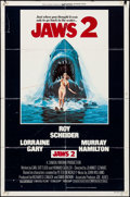 "Movie Posters:Horror, Jaws 2 & Other Lot (Universal, 1978). Folded, Overall: Fine+. One Sheets (2) (27"" X 41"") Lou Feck Artwork. Horror.. ... (Total: 2 Items)"