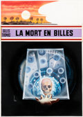 Original Comic Art:Covers, René Brantonne La mort en billes Couverture (Fleuve Noir,1977)....