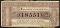 Obsoletes By State:Maryland, Baltimore, MD - Consolidated Lottery of Maryland 1/4 Share Apr. 30, 1857 Very Fine.. ...