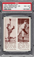 Baseball Cards:Singles (1940-1949), 1941 Double Play Greenberg/Ruffing #85/86 PSA NM-MT 8. ...