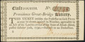 Colonial Notes:Mixed Colonies, Providence Great-Bridge Lottery Ticket Oct. 30, 1790 Providence, Rhode Island About Uncirculated.. ...