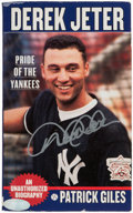 Baseball Collectibles:Publications, Derek Jeter: Pride of the Yankees Signed Book....