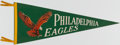 Football Collectibles:Others, c. 1960s Philadelphia Eagles Pennant. ...