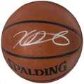 Basketball Collectibles:Balls, Kevin Durant Signed Basketball. ...
