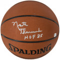 "Basketball Collectibles:Balls, Nate Thurmond ""HOF 85"" Signed Basketball. ..."
