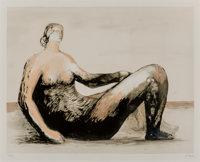 Henry Moore (1898-1986) Reclining Woman III, 1982 Lithograph in colors on Rives paper 18-3/4 x 25