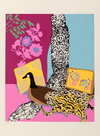 Hunt Slonem (b. 1951) Anaconda, 1980 Serigraph in colors on Arches paper 29-3/4 x 22 inches (75.6
