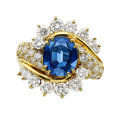 Estate Jewelry:Rings, Sapphire, Diamond, Gold Ring, Kurt Wayne. ...