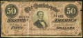 Confederate Notes:1864 Issues, T66 $50 1864 Atlanta, GA - R.D. Mann Advertising Note Fine.. ...