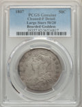 1807 50C Bearded Goddess, Large 50/20 -- Cleaned -- PCGS Genuine. Fine Details. NGC Census: (0/0). PCGS Population: (5/3...