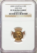 Modern Bullion Coins, Four-Piece 2008-W Gold Buffalo Proof Set PR70 Ultra Cameo NGC. The set includes: tenth-ounce $5, quarter-ounce $10, half-o... (Total: 4 coins)