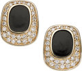 Estate Jewelry:Earrings, Diamond, Enamel, Gold Earrings . ...