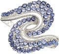 Estate Jewelry:Bracelets, Sapphire, Diamond, White Gold Bracelet . ...