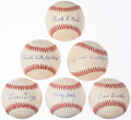 Autographs:Baseballs, Negro League Signed Signed Baseball Lot of 6....