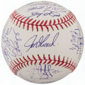 Autographs:Baseballs, 2009 New York Yankees - World Series Champs - Team Signed Baseball (24 Signatures)....