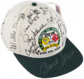 Football Collectibles:Others, Super Bowl I Green Bay Packers Multi-Signed Hat (20 Signatures). ...