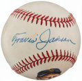 Autographs:Baseballs, Travis Jackson Single Signed Portrait Baseball....