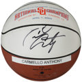 Basketball Collectibles:Balls, 2003 Carmelo Anthony Signed Syracuse Mini Basketball....