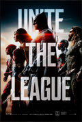 """Movie Posters:Action, Justice League (Warner Brothers, 2017). Rolled, Very Fine+. One Sheet (27"""" X 40"""") DS Advance. Action.. ..."""