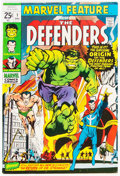 Bronze Age (1970-1979):Superhero, Marvel Feature #1 The Defenders (Marvel, 1971) Condition: FN/VF....