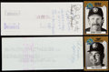Autographs:Checks, 1981-83 Paul Molitor & Robin Yount Signed Payroll Check Lot of 2....