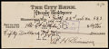 Autographs:Checks, 1936 Al Simmons Twice-Signed Check....