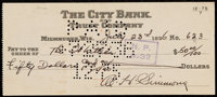1936 Al Simmons Twice-Signed Check