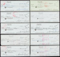 Autographs:Checks, Sam Snead Signed Check Lot of 20 Made Out to Cash. ...