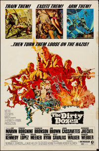 """The Dirty Dozen & Other Lot (MGM, 1967). Folded, Fine+. One Sheets (3) (27"""" X 41""""). Frank McCarthy Artwork..."""