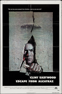 """Escape from Alcatraz & Other Lot (Paramount, 1979). Folded, Overall: Fine+. One Sheets (3) (Approx. 27"""" X 41&qu..."""