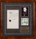 Autographs:Inventors, Gregor Mendel Document Signed...