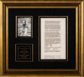 Autographs:U.S. Presidents, Franklin D. Roosevelt Signed Contract to Build House at WarmSprings....