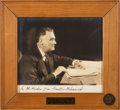 Autographs:U.S. Presidents, Franklin D. Roosevelt Signed Photograph Given to King Haakon....