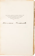 Books:Signed Editions, Theodore Roosevelt Signed Copy of Outdoor Pastimes of an American Hunter....