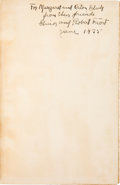 Books:Signed Editions, Robert Frost Signed Copy of Collected Poems. ...