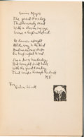 Books:Signed Editions, Robert Frost Signed Copy of New Hampshire....