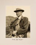 Autographs:Artists, Frank Lloyd Wright Signed and Inscribed Photograph....